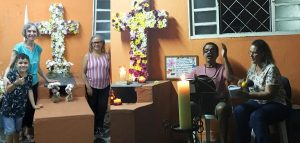 In our Easter celebration, we communally place flowers on the same cross as a sign of our hope in the Resurrection – new life, strengthened in love and solidarity.